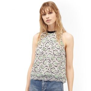 Sale! LACE SLEEVELESS FRENCH CONNECTION TOP